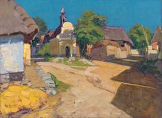 Martin Benka - Juhočeská krajina, 1916 Monet, Painting, Google, Europe, Artists, Search, Painting Art, Searching, Paintings