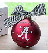 Alabama/Auburn House DIvided Glass Keepsake Ornament with Gift Box #UA-AUB-HDIV | eWAM