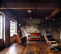 Love the wood and leather chairs!  From: Dream Book Design