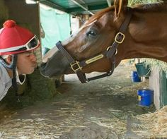 Great Photo! California Chrome and his exercise rider Willie Delgado