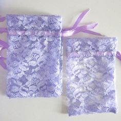 50 pcs  lilac lace bags  wedding lace favor bags by WorldOfWillows