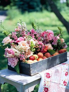 Insider Trick Placing flowers in floral vials gives you greater flexibility for containers. For example, a less-than-watertight old wooden toolbox becomes a viable option for holding a flower arrangement when you don't have to figure out how to fill it with water.