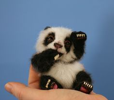 "[SOLD] ~ Bao Tian ~a realistic 4 1/4"" miniature baby panda bear ~on ebay now! / Teddy Bears & Pals / Teddy Talk: Creating, Collecting, Connecting"