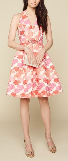 The cutest floral fit & flare dress to wear to the wedding next month.