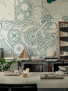 #wallpaper STEAMPUNK Life! 15 Collection by Wall&decò | #design by 4P1B Design Studio @wallanddeco