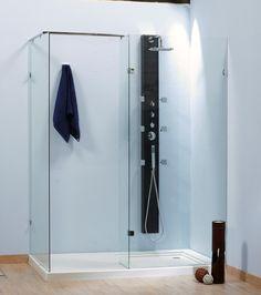 Un espacio de ducha genial, con una zona de ducha y relax y una zona de secado,... Ideal.