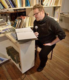 David Wright of SPL reads. Photo by Joe Iano