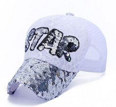 r casual lace sports trucker hats women and men shiny Star Letters baseball caps