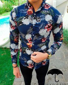 Camisas para Hombre Moon & Rain - Página 16 de 18 - Tiendas Platino Formal Men Outfit, Mens Fashion Shoes, Fashion Suits, Man Fashion, Moda Chic, My Life Style, Stylish Shirts, Raw Denim, African Wear