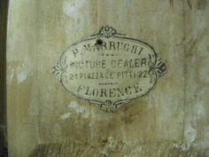 Italian Gilt Tabernacle Frame label