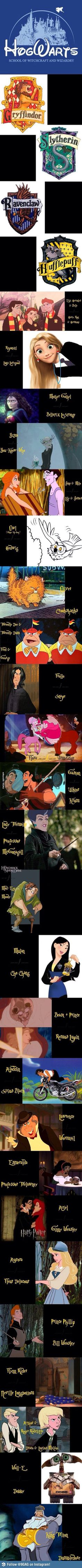 Disney characters in Harry Potter