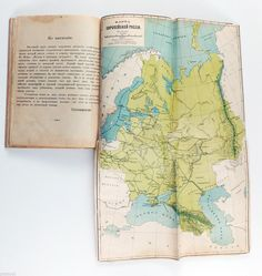 1909 Imperial Russian Geography of Russia Antique Book with Two Maps | eBay