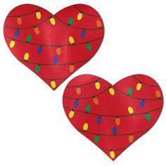 Love: Liquid Red Heart with Small Holiday Lights Nipple Pasties by Pastease® o/s Christmas Rock, Felt Christmas, Christmas Holidays, Christmas Ornaments, Christmas String Lights, Holiday Lights, Rock Crafts, Arts And Crafts, Diy Crafts