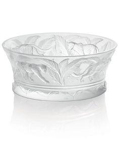 Lalique Crystal Bowls: Jungle Bowl