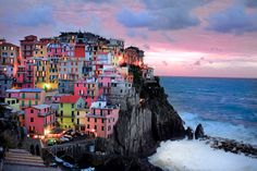 Cinque Terre, Italy. One day I'll go there!
