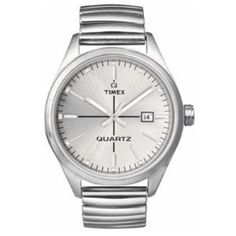 3df0034c5d1e Amazon.com  Timex Originals T2N403 Unisex T Series Silver Dial Steel  Expander Watch  Watches