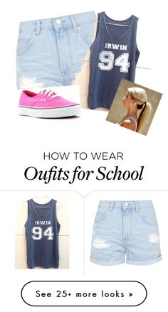 """""""Me today at school"""" by michaelgclifford19 on Polyvore featuring Topshop and Vans"""