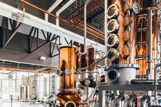 A shot of the gorgeous interior at J. Carver Distillery in Waconia, by Isabel Subtil / Heavy Table