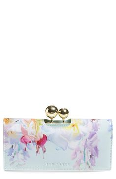 love the watercolor effect -Ted Baker London 'Hanging Garden' Matinee Wallet available at #Nordstrom