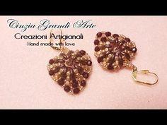Best Seed Bead Jewelry  2017  DIY  Orecchini Cuore Crescente crescent minos perline puka  facili