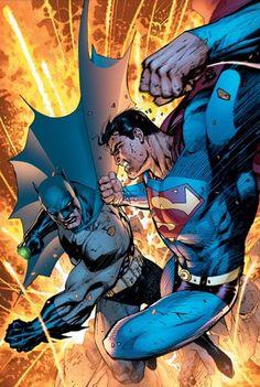 Batman & Superman by Jim Lee – Colors by Alex Sinclair. Comic Art, Comic Manga, Comic Books Art, Book Art, Marvel Dc Comics, Bd Comics, Comic Book Characters, Comic Book Heroes, Comic Character