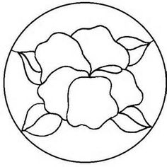 Free Magnolia Flower Bloom Stained Glass Stepping Stone Pattern