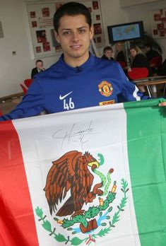 "Javier ""Chicharito"" Hernandez is a Mexican footballer who plays as a forward for Premier League club Manchester United and The Mexican National team."