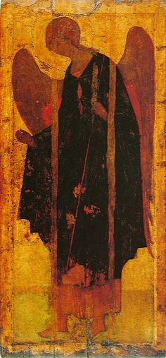 The Archangel Gabriel. Byzantine Icons, Byzantine Art, Russian Icons, Russian Art, Religious Icons, Religious Art, Andrei Rublev, Archangel Raphael, Raphael Angel