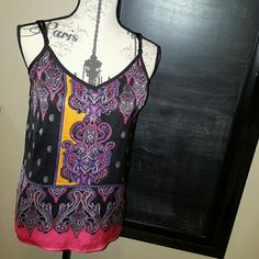 Express filigree tank Very sexy and colorful, never worn but for maybe an  hour. Express Tops Tank Tops