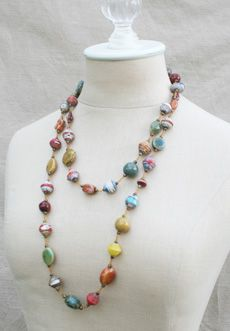 Trades of Hope - Haiti Signature Necklace. Necklace is made from recycled cereal boxes. Fair trade and handmade! Great gifts that help women!