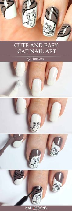There are so many DIY nails ideas out there. We have prepared some stunningly easy and trendy tutorials. Fear not to stand out! Simple Nails Design, Cute Simple Nails, Nail Design Spring, Cute Nails, Pretty Nails, Pretty Nail Designs, Diy Nail Designs, Easy Designs, Red Glitter Nail Polish