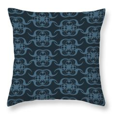Unique Pattern With Changeable Background Throw Pillow by Sebastien Coell
