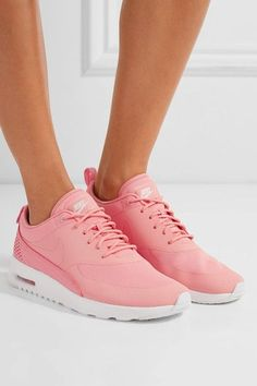 Nike - Air Max Thea Croc-effect Leather-trimmed Coated Mesh Sneakers - Coral