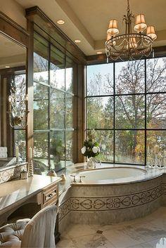 80 Awesome Farmhouse Master Bathroom Decor Ideas And Remodel – Home Design Dream Bathrooms, Beautiful Bathrooms, Master Bathrooms, Luxury Bathrooms, Small Elegant Bathroom, Small Bathroom, Bathroom Tubs, Boho Bathroom, Bathroom Mirrors