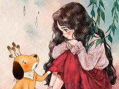 """언제나 행복한 날들만 있는 건 아니에요. 우울과 슬픔, 몇 방울의 눈물과 속상한 마음들. 살면서 가끔씩은 그런 날도 있는 거죠. 그래도 볼에 흐르던 눈물을 아무렇지 않게 슥 닦고 웃어 보일 수 있는 것은, 슬픔에 빠진 나에게 따뜻한 손길을 건네던 걱정스러운 얼굴의 너희들이 있어서에요. Happy days don""""t come all the time. Gloominess, sadness, tears and upset mind. You would also encounter these days. But the reason why I could wipe out my tears and make a smile is because you guys shared your warmth, looking worried, when I was sad."""
