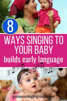 Playing classical music, songs, and singing to your baby is an important vehicle for early language development as well as a way to communicate love to your child. Included are lists of music to play for your baby at bedtime, naptime, & playtime. Music Activities For Kids, Music For Kids, Infant Activities, Learning Activities, Development Quotes, Language Development, Child Development, Emotional Development, Early Education