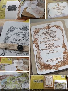We love these woodland invites. Make a statement with illustrations.