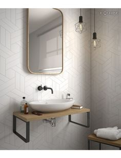 CHEVRON BLANCO MATT 5.2X18.6 R - SQM - Wall Tiles - Tiles - Our Products