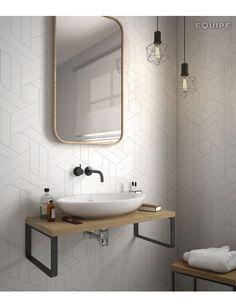 CHEVRON BLANCO MATT 5.2X18.6 L - SQM - Wall Tiles - Tiles - Our Products