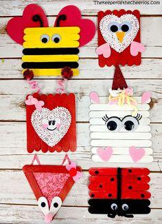 >>>Visit>> Valentines Day Craft Stick Projects craft stick owl love bug bee unicorn fox and ladybug Valentine's Day Crafts For Kids, Valentine Crafts For Kids, Toddler Crafts, Holiday Crafts, Valentines Crafts For Kindergarten, Valentine Ideas, Diy Christmas, Valentines Bricolage, Kinder Valentines