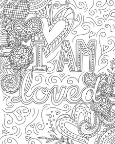 Count Your Blessings Coloring Book (Color Yourself Inspired) Valentine Coloring Pages, Love Coloring Pages, Adult Coloring Book Pages, Printable Adult Coloring Pages, Mandala Coloring Pages, Coloring Books, Free Adult Coloring, Color Quotes, Coffee Break