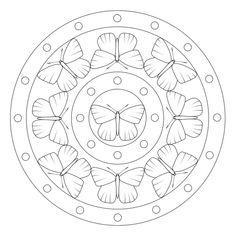 Schmetterling-Mandala 4