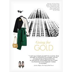 GOING FOR GOLD by paint-it-black featuring Alexander McQueen, Burberry, Rochas, Miu Miu, Tom Ford, Tiffany & Co. and CÉLINE
