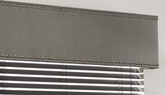 cornice with nailheads | wool sateen | ash