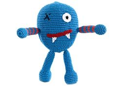 Chubby monsters - Scary - azul  // #fairtrade #comerciojusto #clothes #ropa #fashion #baby #babe #bebe #madres #peques #game #juguete
