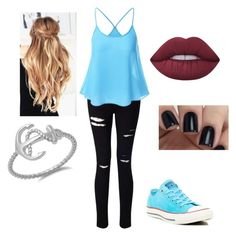 """""""Outfit #52"""" by racce0400 on Polyvore featuring beauty, Miss Selfridge, Converse and Lime Crime"""
