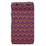 Trendy Chinese Dragon Scale Scallop ZigZag Pattern Droid RAZR Cases