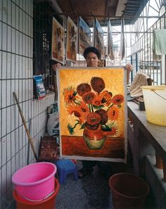 More than half of the commercial oil paintings produced every year are made in the town of Dafen, China. | Going to Market | Stories | COLORS Magazine