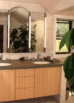 Bamboo Cabinet & Robern Medicine Cabinet