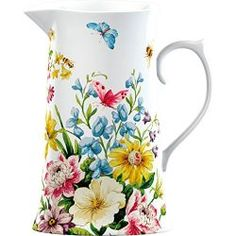 Was > Now Save off Creative Tops Katie Alice English Garden Shabby Chic Tall Porcelain Jug China Painting, Ceramic Painting, Shabby Chic Accessories, English Garden Design, Pottery Painting Designs, Shabby Chic Kitchen, Country Kitchen, Ceramic Clay, Ceramic Tableware